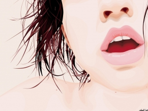 Girl Lips Vector