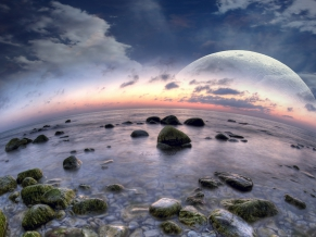 Fisheye Beach Dreamy World