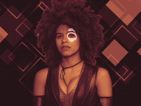Zazie Beetz as Domino in...