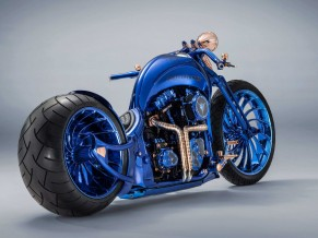 Harley Davidson Blue Edition 4K HD