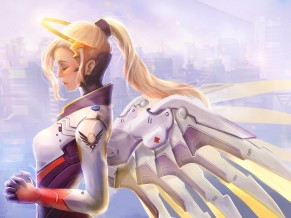 Mercy Overwatch Artwork 4K