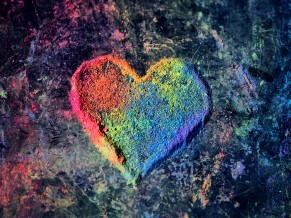 Colorful Valentine Love Heart 4K 5K