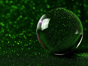 Green Glass Sphere 5K