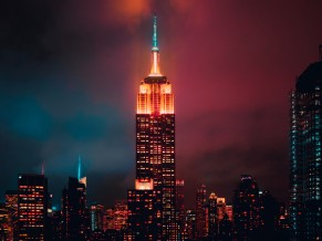 Empire State Building at Night 5K