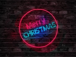 Merry Christmas Neon Sign 4K 5K