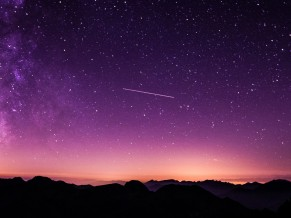 Purple Starry Sky