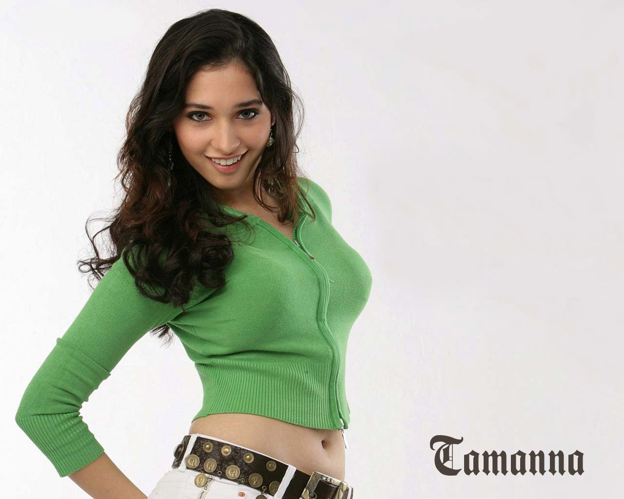 tamanna in green top wallpapers | wallpapers hd