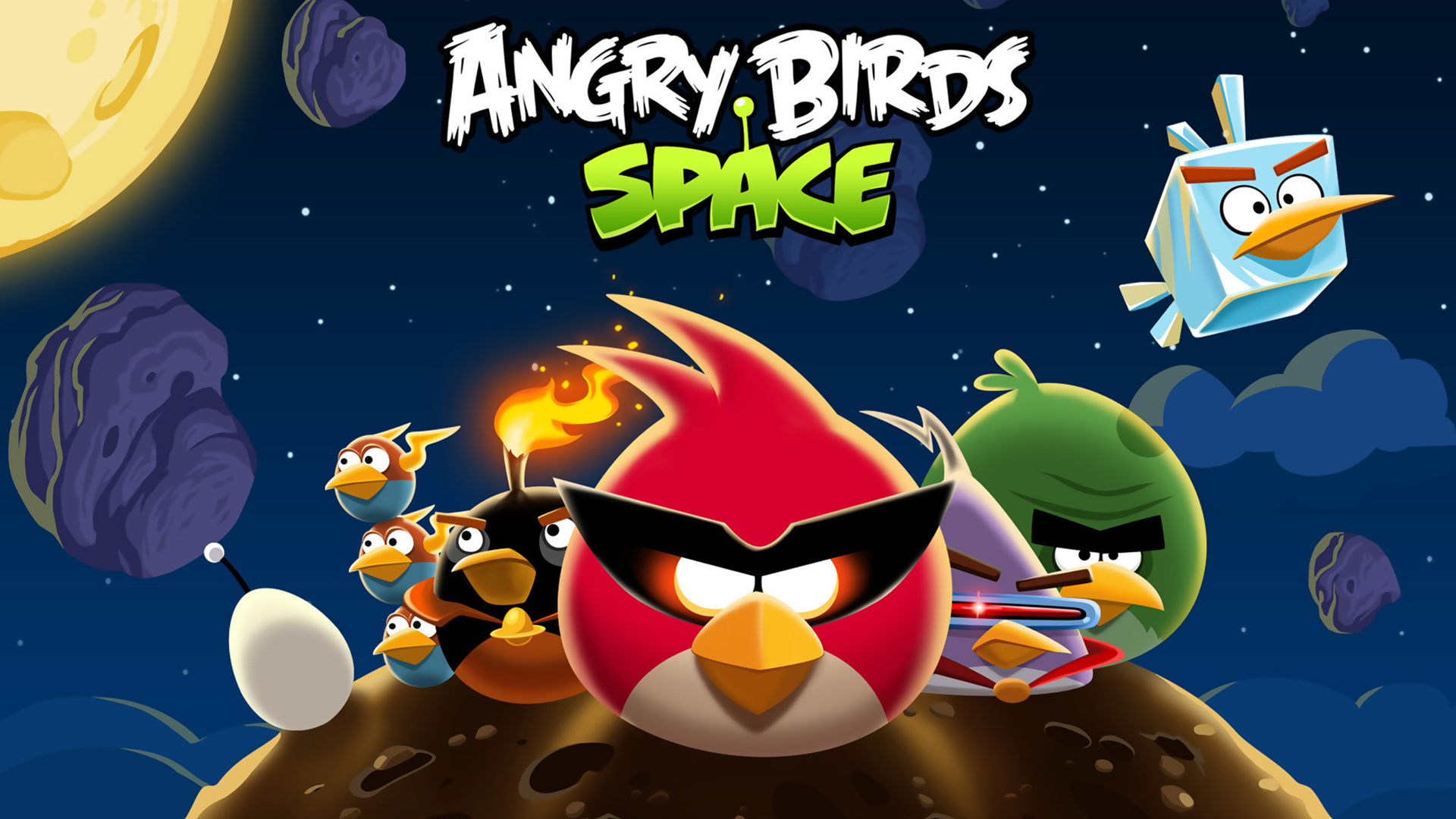 Angry birds space game wallpapers wallpapers hd angry birds space game voltagebd Choice Image