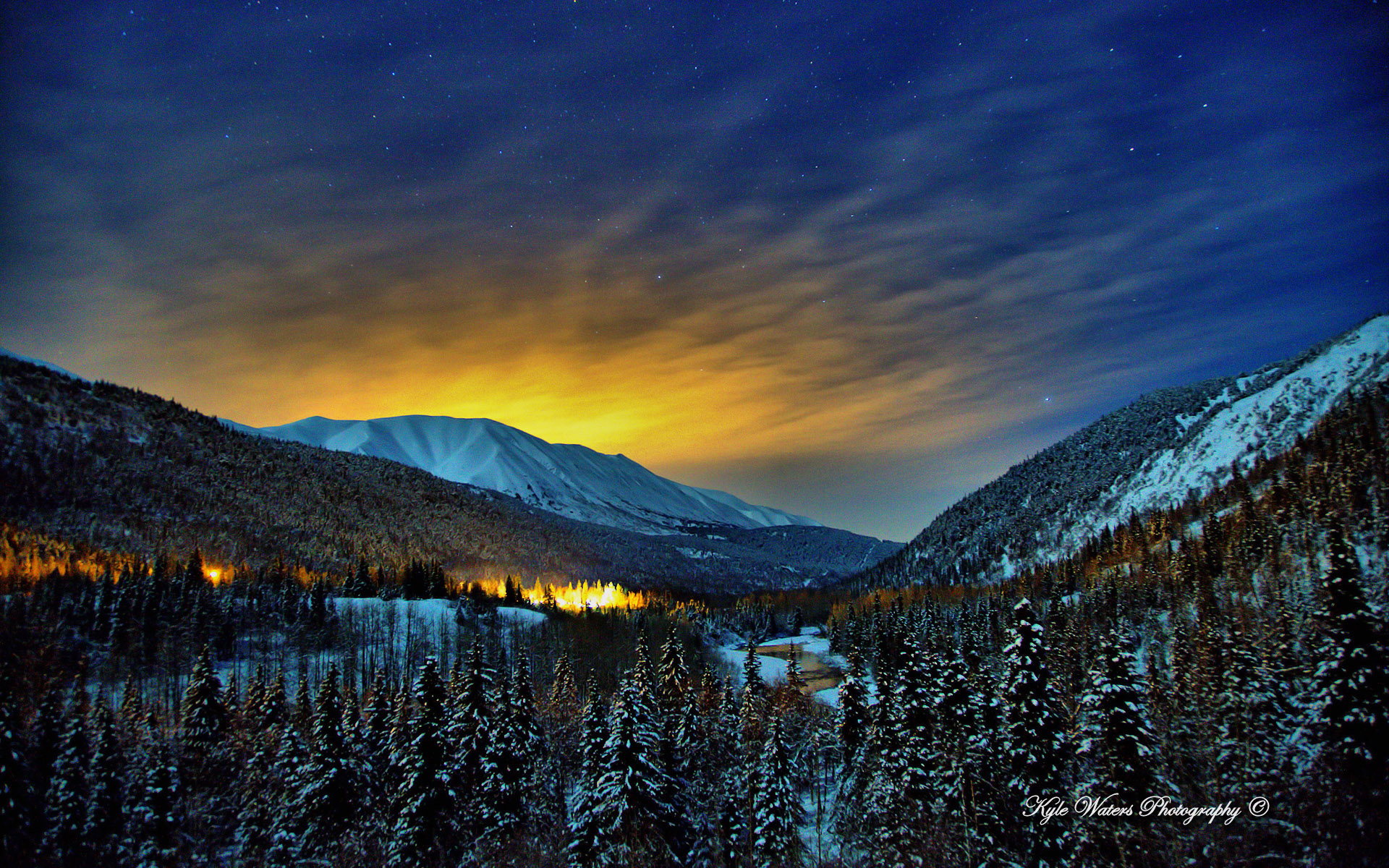 Hd Wallpapers Hd Backgrounds: Alaska Winter Nights Wallpapers