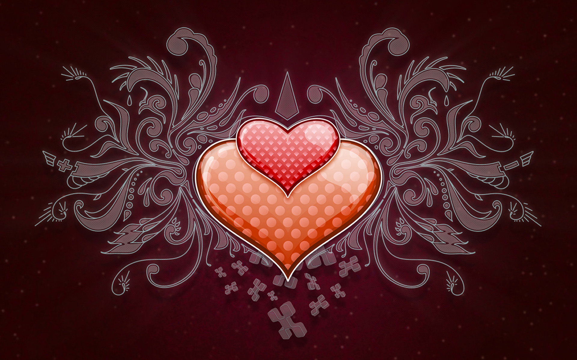 Love Wallpaper Big Size Hd : Heart Love Vector Wide HD Wallpapers custom size generator