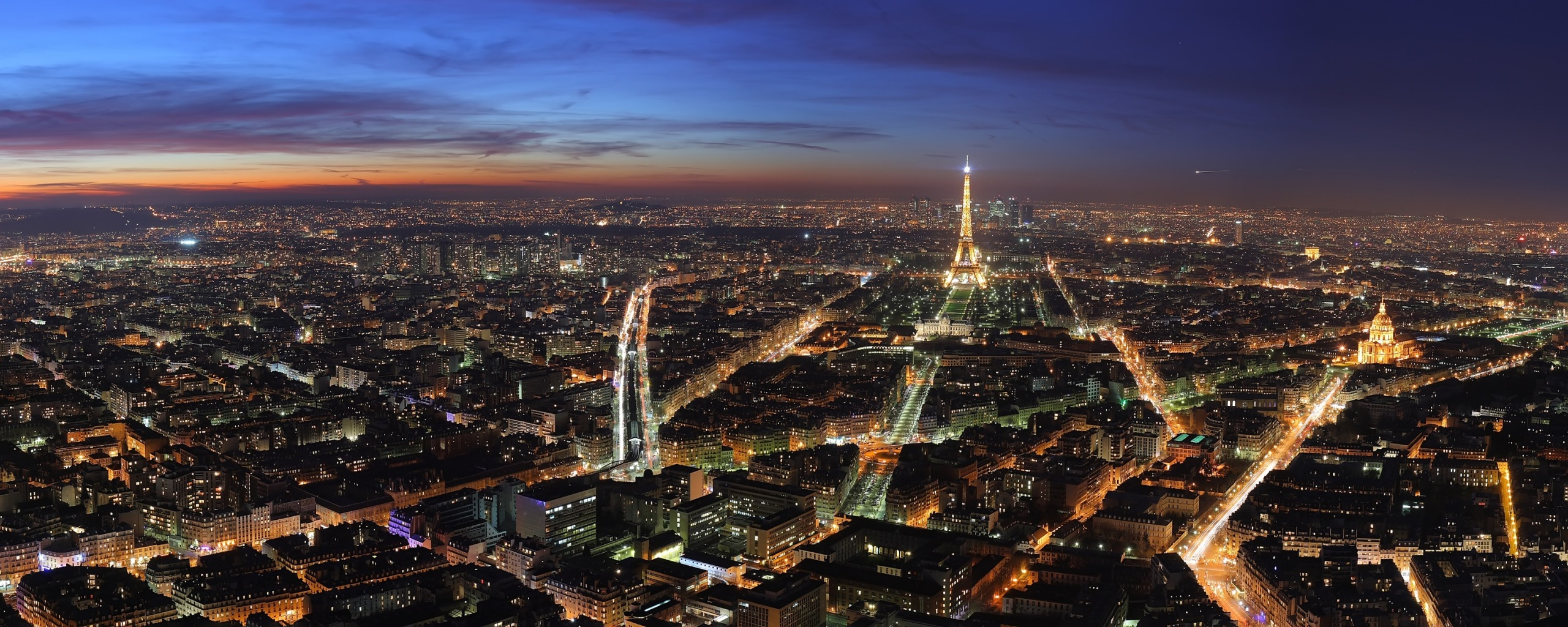 Simple Wallpaper Night Dual Monitor - paris_at_night_dual_monitor-dual_wallpapers  You Should Have.jpg