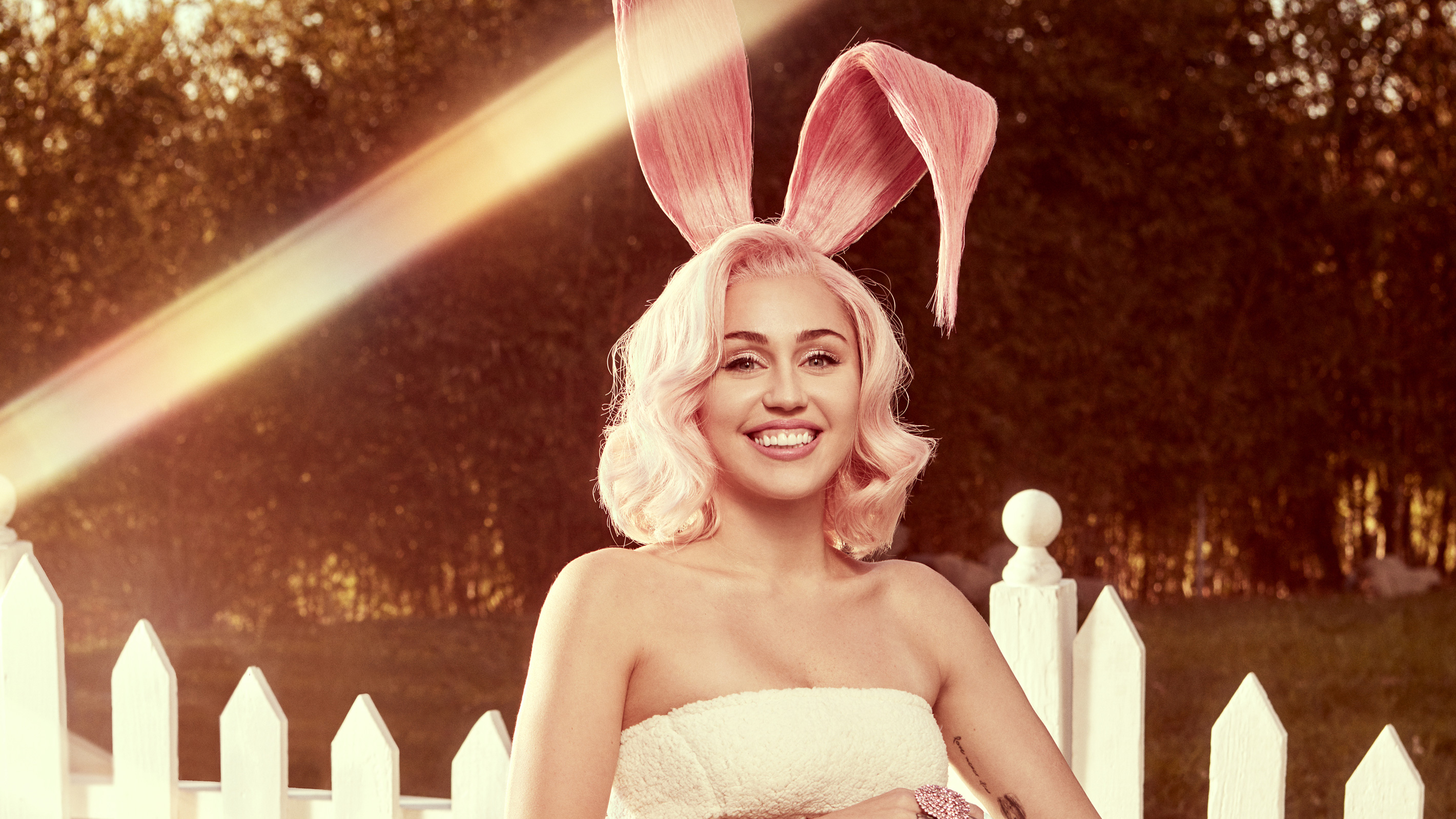 miley cyrus easter bunny 2018 wallpapers   wallpapers hd