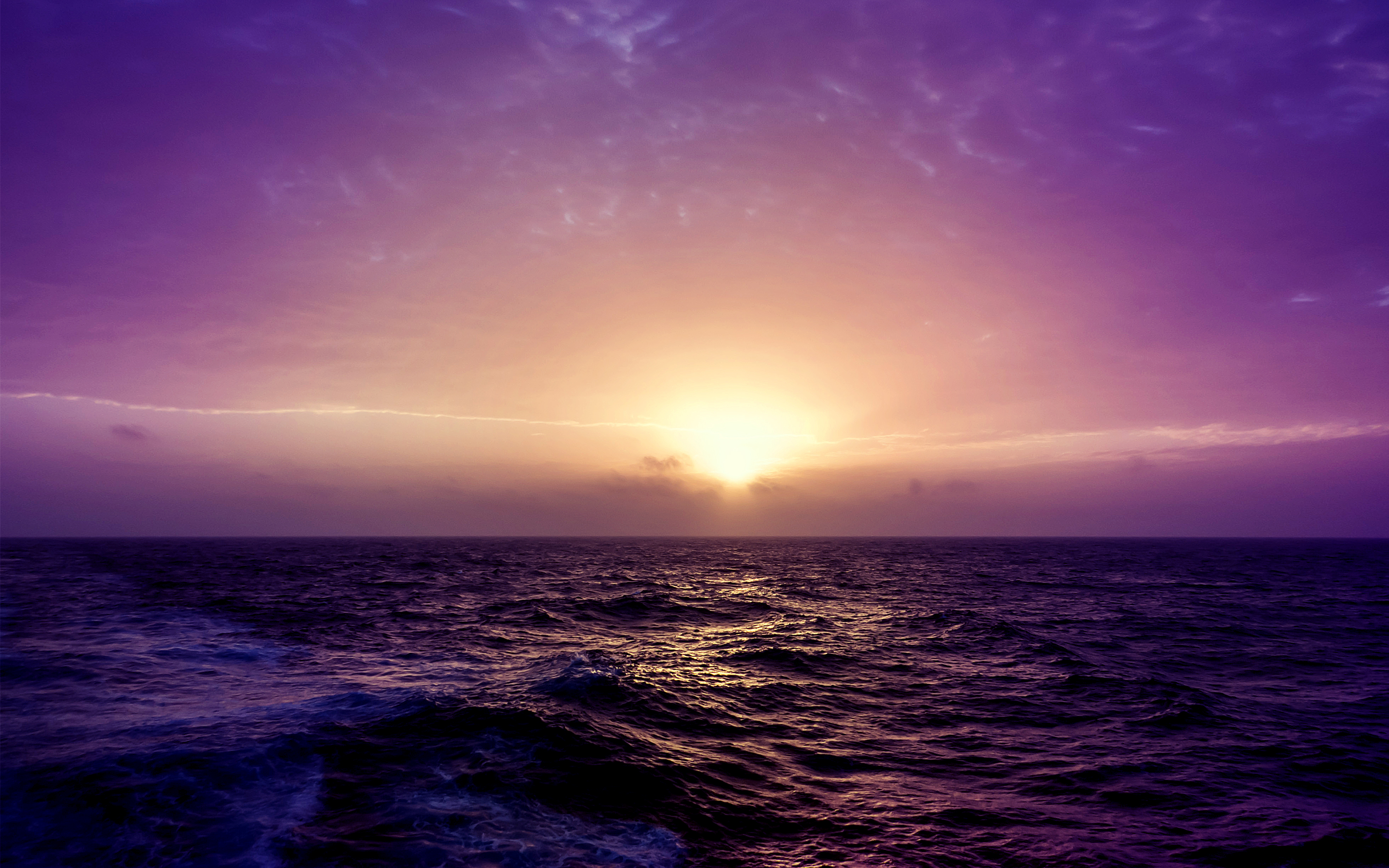 Purple Sea Sunset Wallpapers | Wallpapers HD