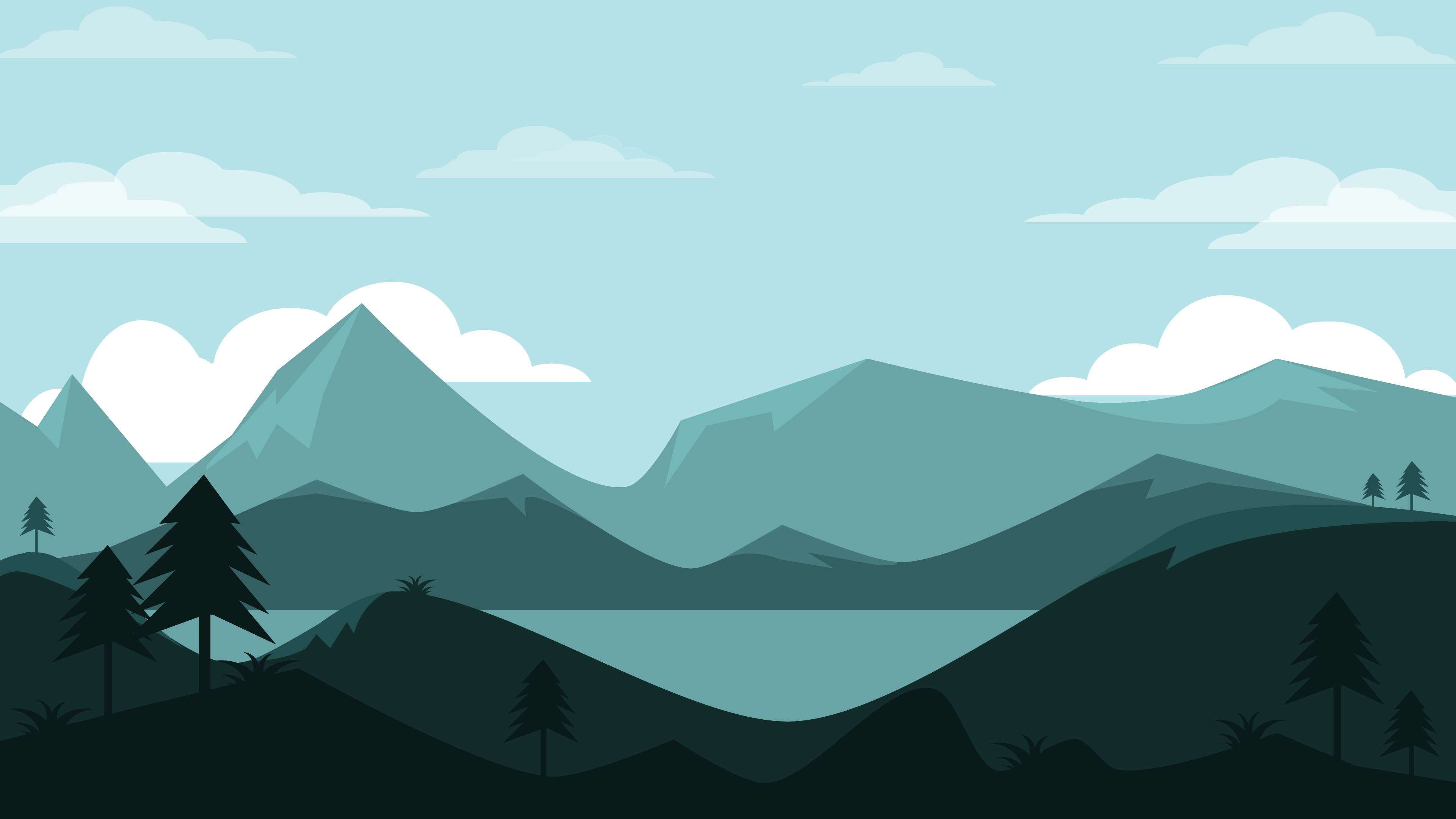 Mountains Lscape Minimal 4K Wallpapers | Wallpapers HD