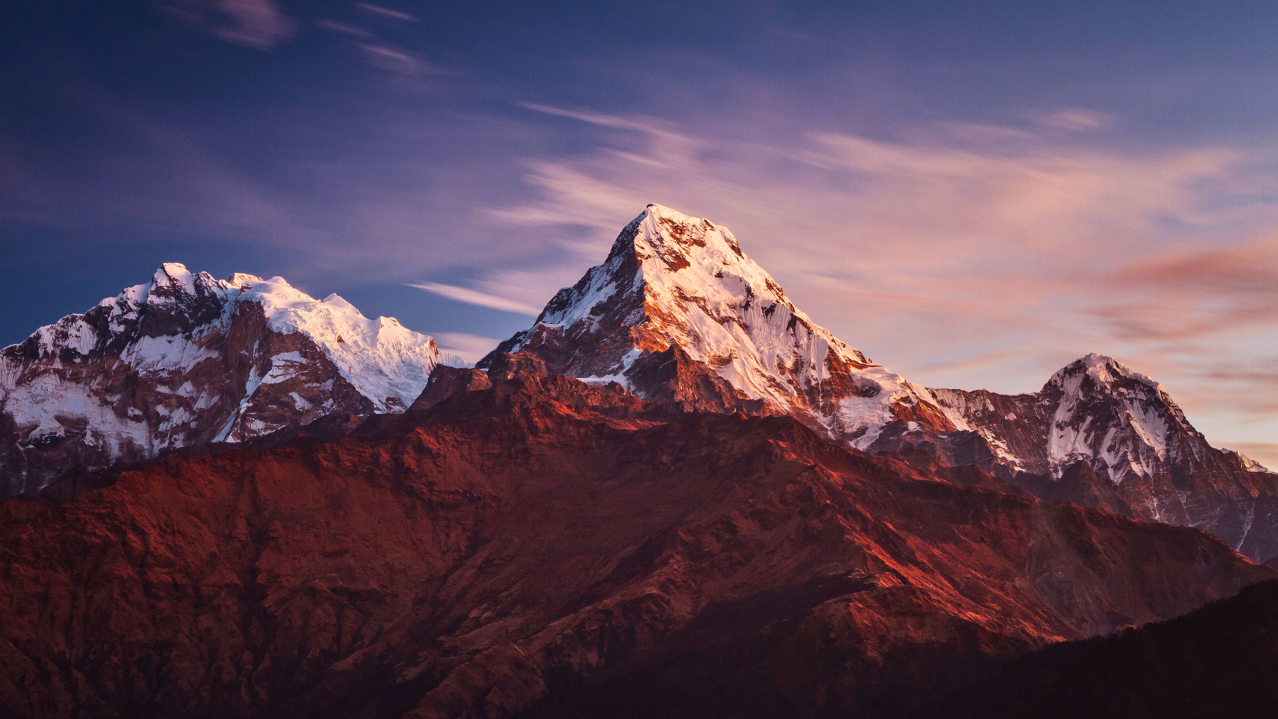 Annapurna Massif Mountains 4K Wallpapers | Wallpapers HD