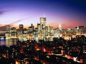 Lower Manhattan as seen over Brooklyn Heights, New York