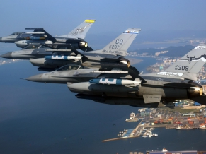Air National Guard F 16 Fighting Falcons