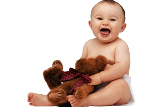 Cute Baby with Teddy