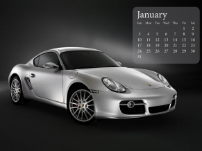 Porsche Cayman January 2010 Calender