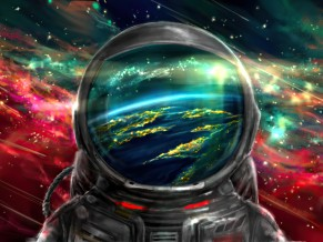 Astronaut Colourful Background 4K