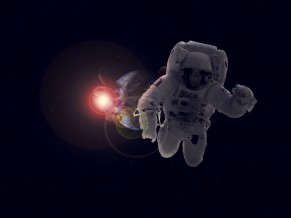 Astronaut in Space 4K 1