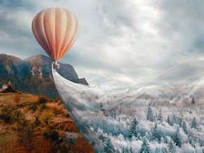 Hot air Balloon Fantasy 4K
