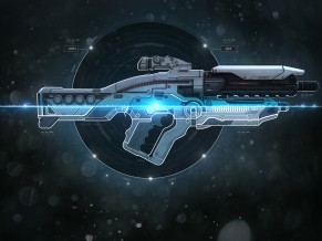 Mass Effect Assault rifle 4K