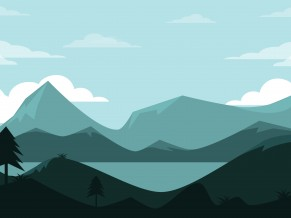 Mountains Lscape Minimal 4K