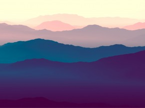 Purple Mountains Minimal 4K