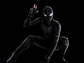 Spider Man Far From Home Black Stealth suit 4K