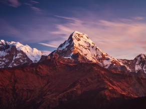 Annapurna Massif Mountains 4K