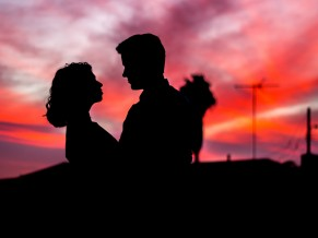 Couple Evening Silhouette