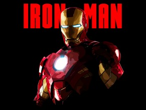 Iron Man Minimal Artwork 5K