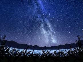 Milky way Starry Sky Lscape 5K