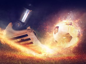 Football Fire Shoe 4K