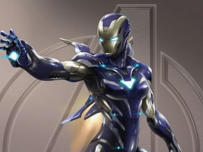 Pepper Potts Iron Man Armor 4K