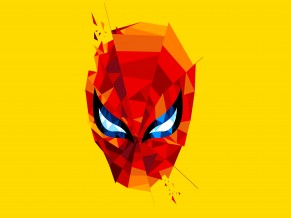Spider Man Lowpoly Splash Art