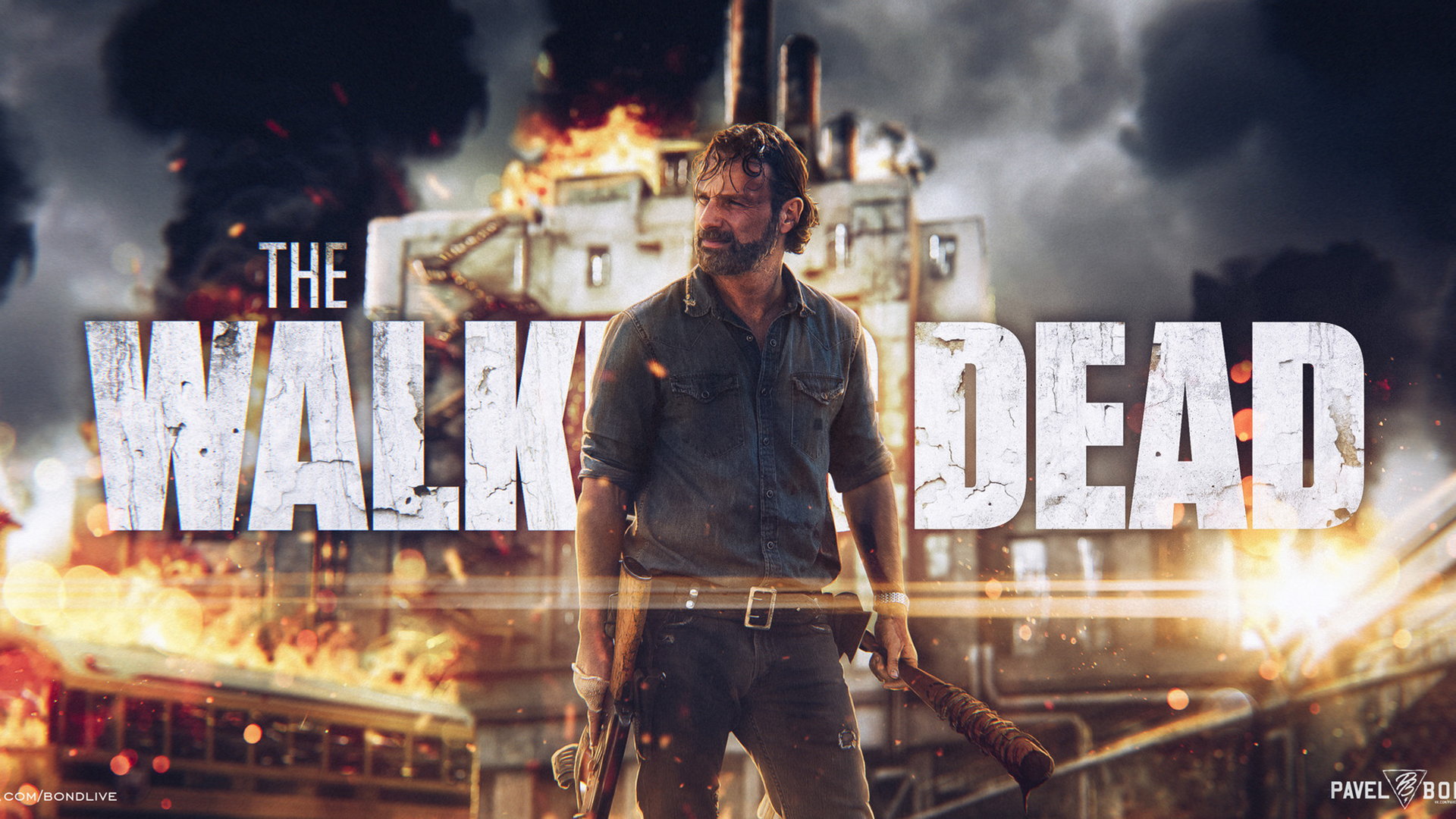 Rew Lincoln As Rick Grimes In The Walking Dead Wallpapers