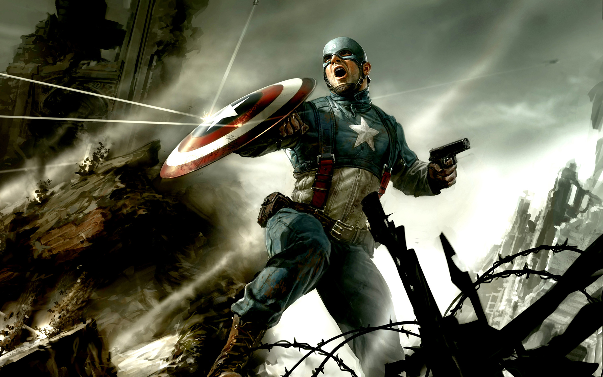Captain america cg wallpapers wallpapers hd - Cg background hd ...