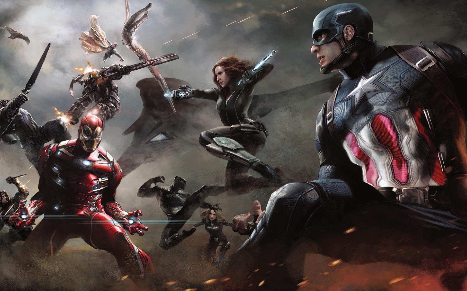 Captain America Civil War Artwork Wallpapers Wallpapers Hd