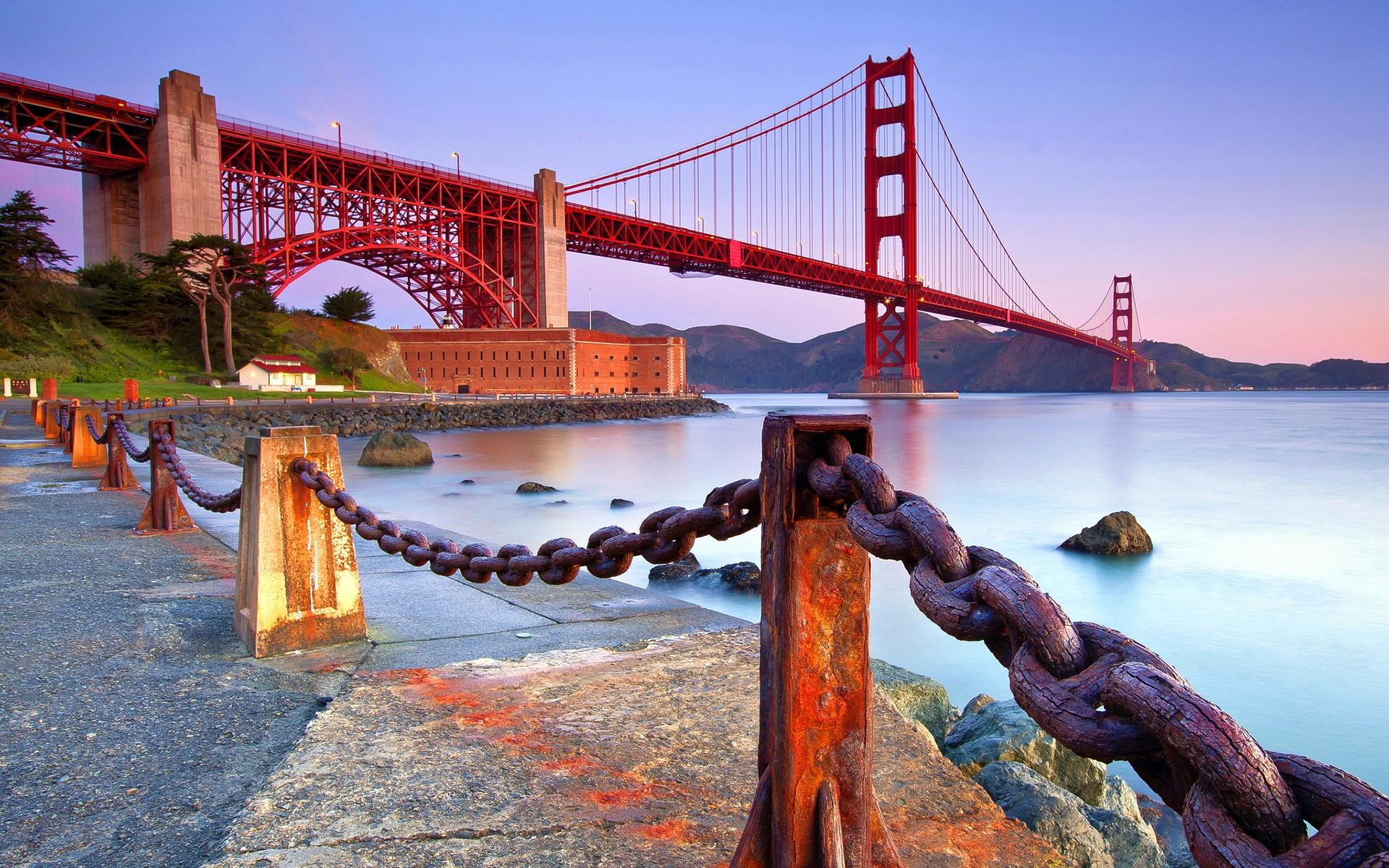 Golden Gate Bridge Coast Wallpapers Wallpapers Hd