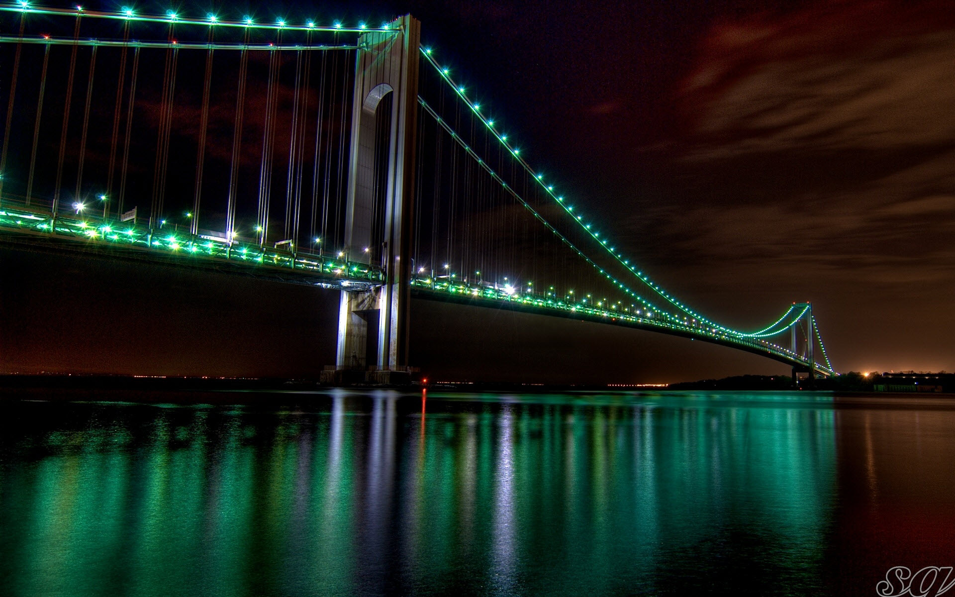 The Golden Gate Bridge Night View Wallpapers Wallpapers Hd