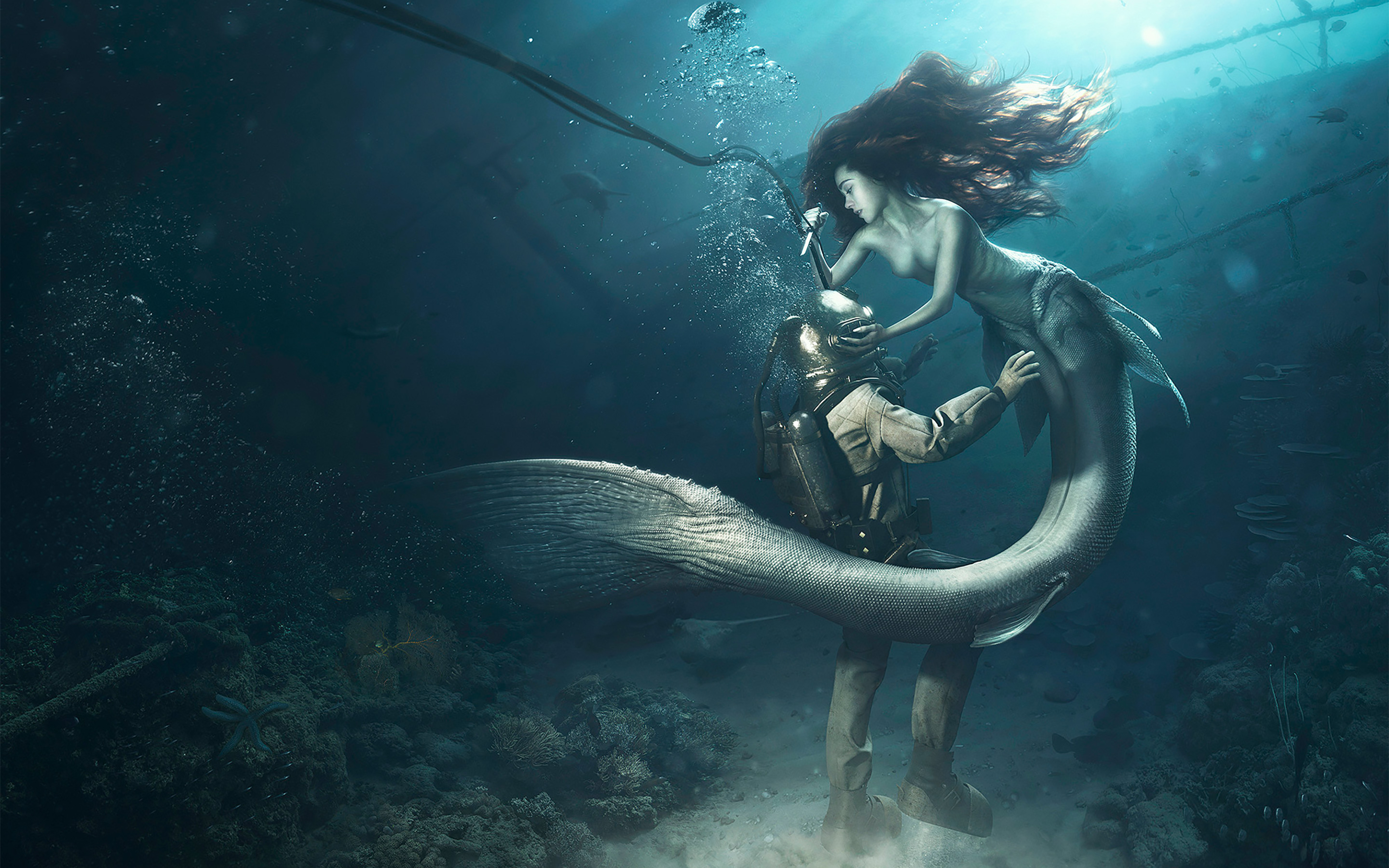 the sailor and the mermaid on Behance