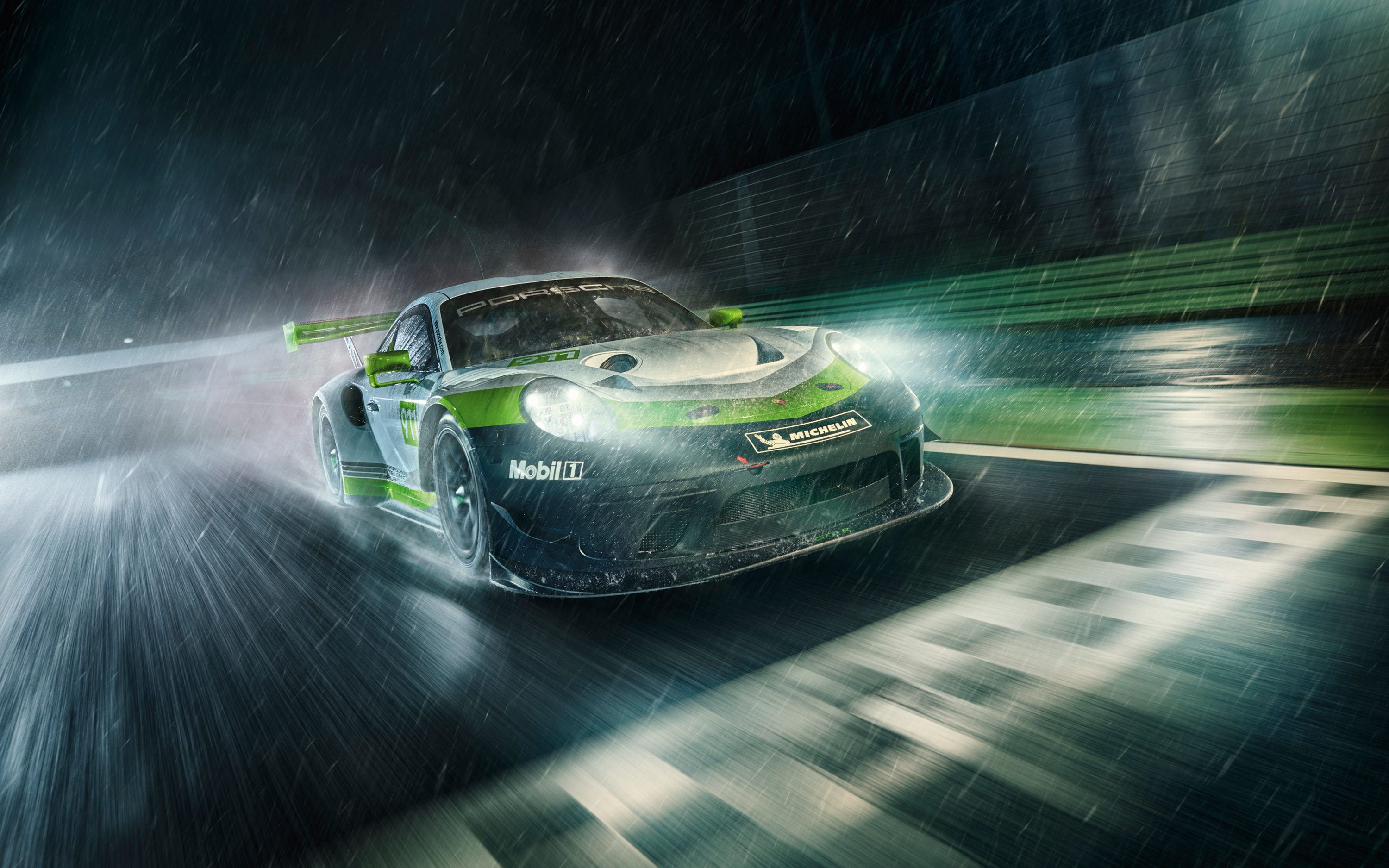 2019 Porsche 911 Gt3 R Wallpapers Wallpapers Hd