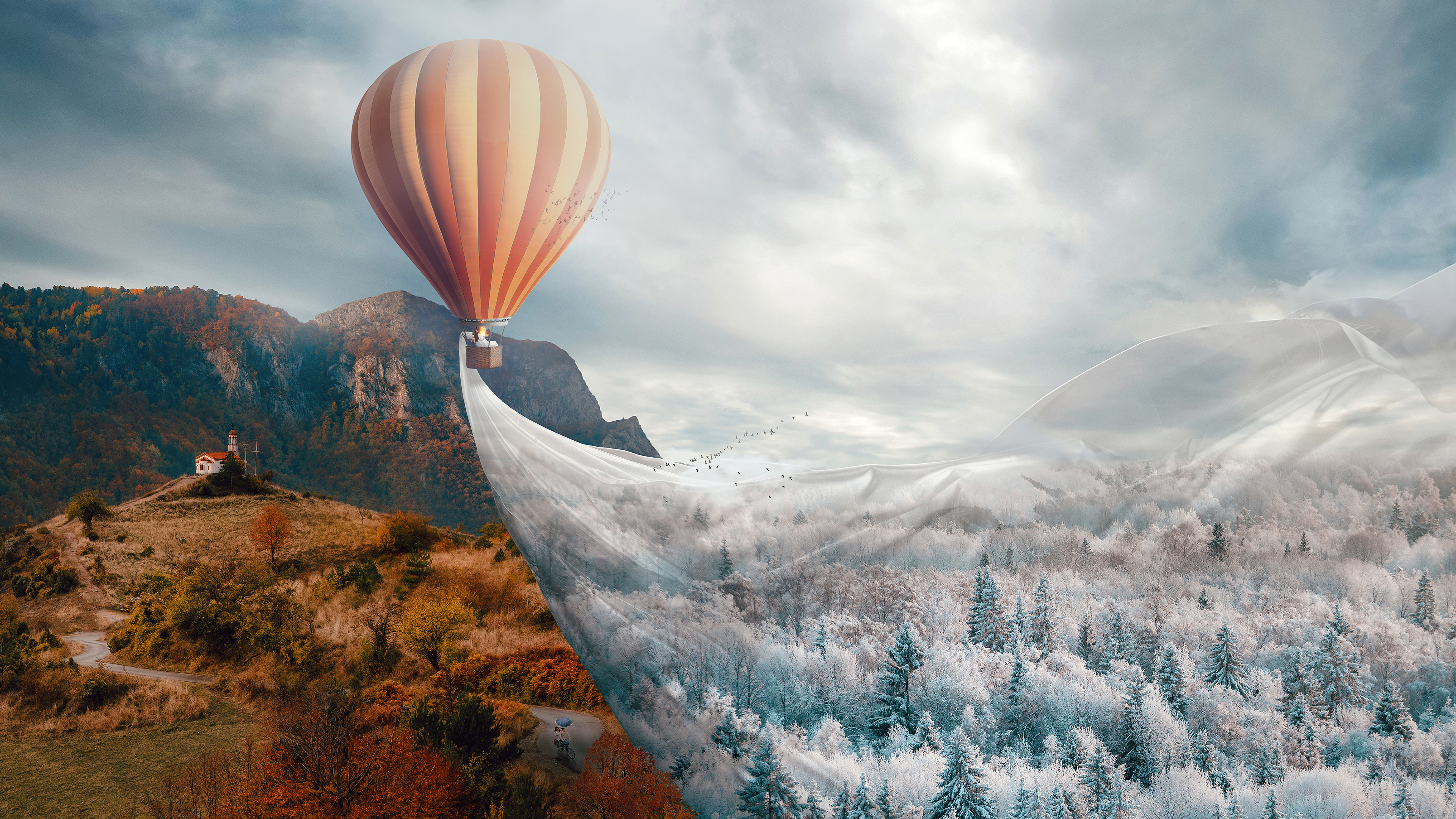 Hot Air Balloon Fantasy 4k Wallpapers Wallpapers Hd