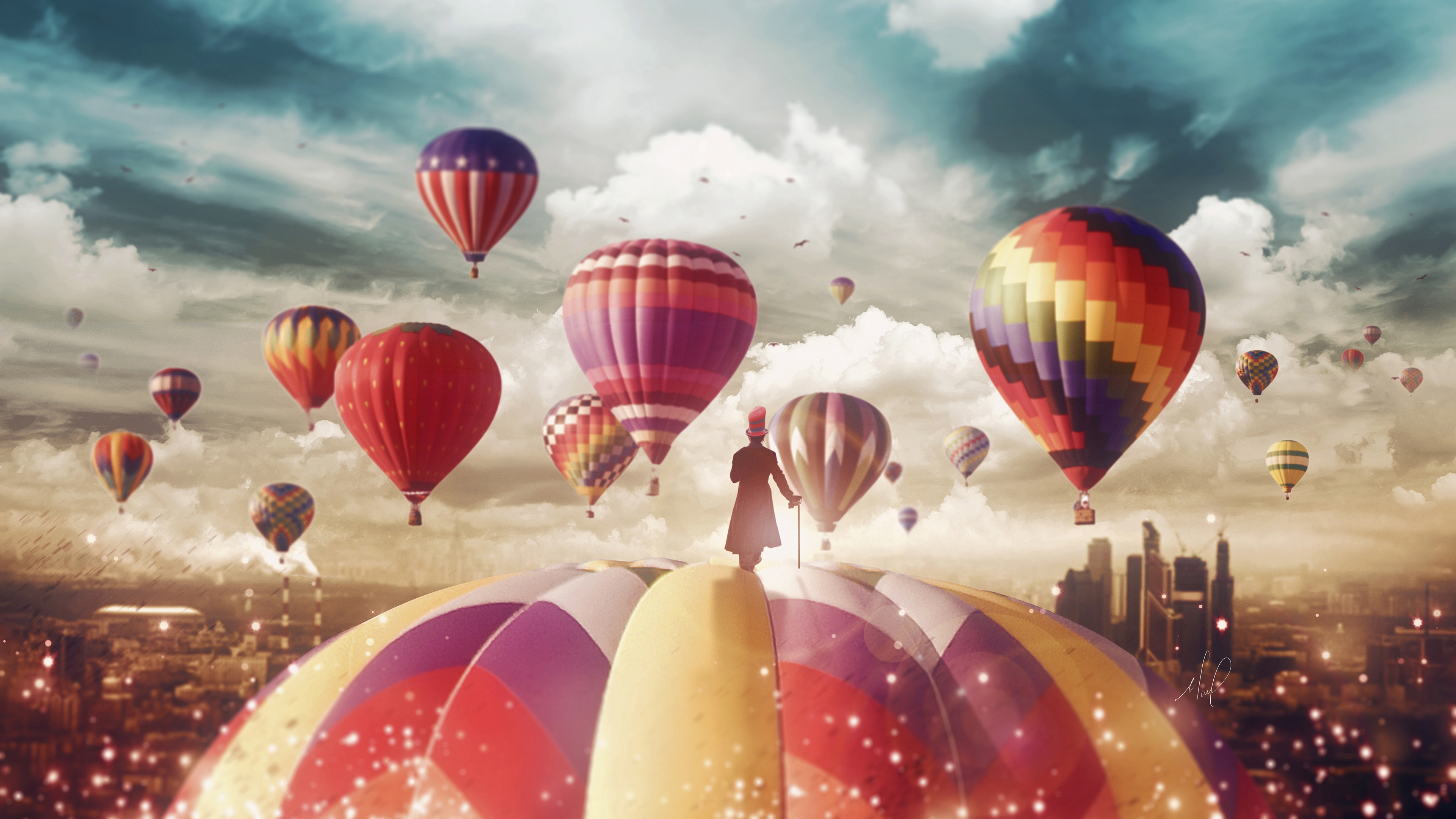Hot Air Balloons Magician 4k Wallpapers Wallpapers Hd