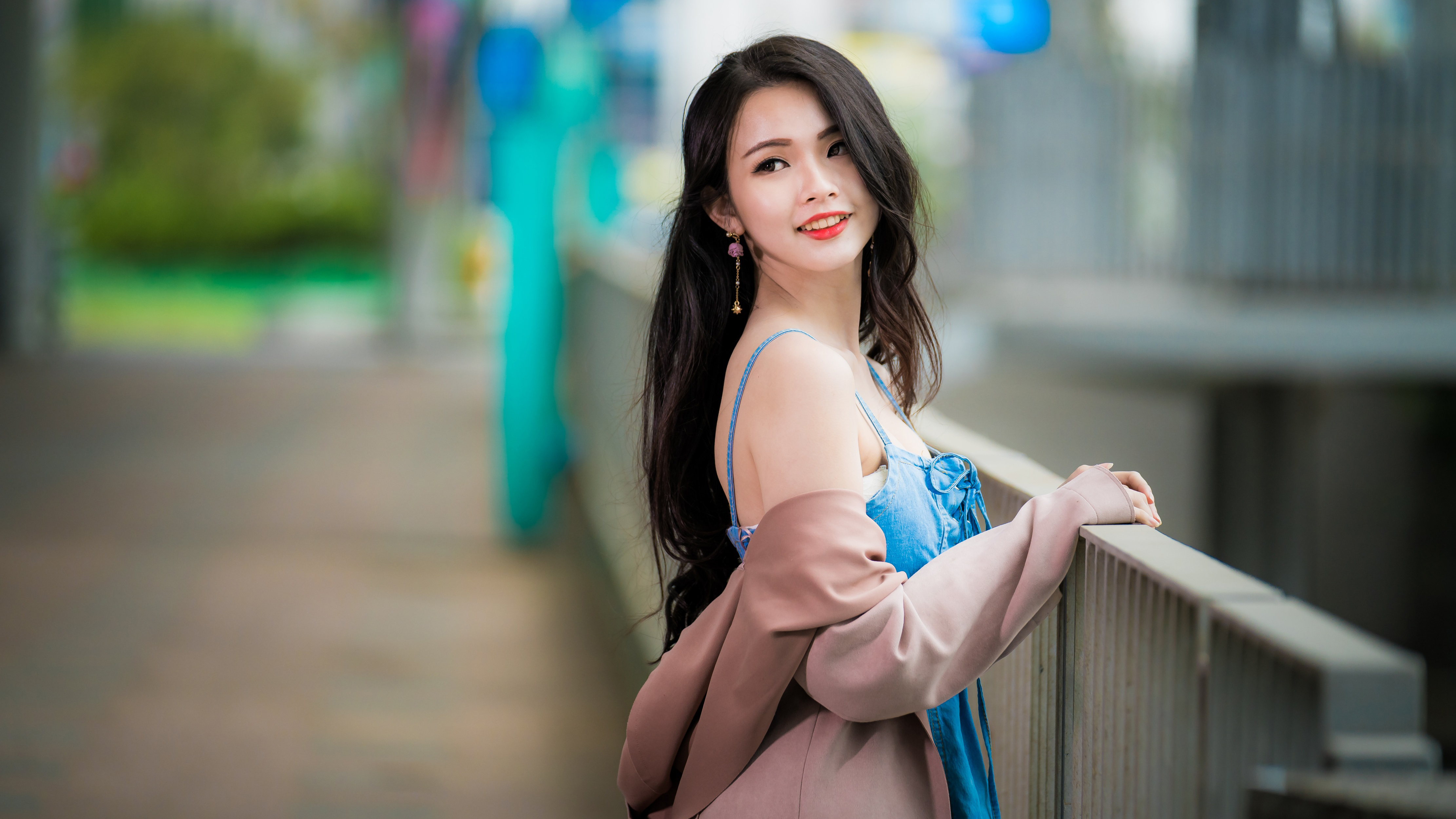 Royalty free asian girl in bra clip art